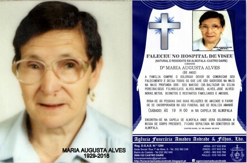 RIP  FOTO -MARIA AUGUSTA ALVES  -88 ANOS (ALMOFALA