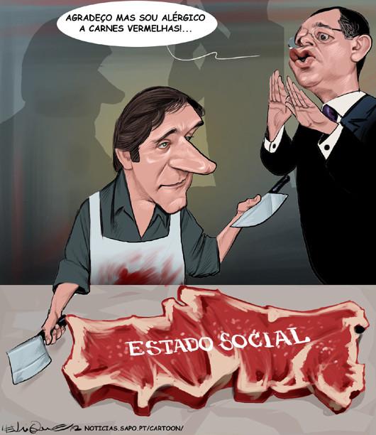 Cartoons - Pedro Passos Coelho e António José Seguro - O Estado Social