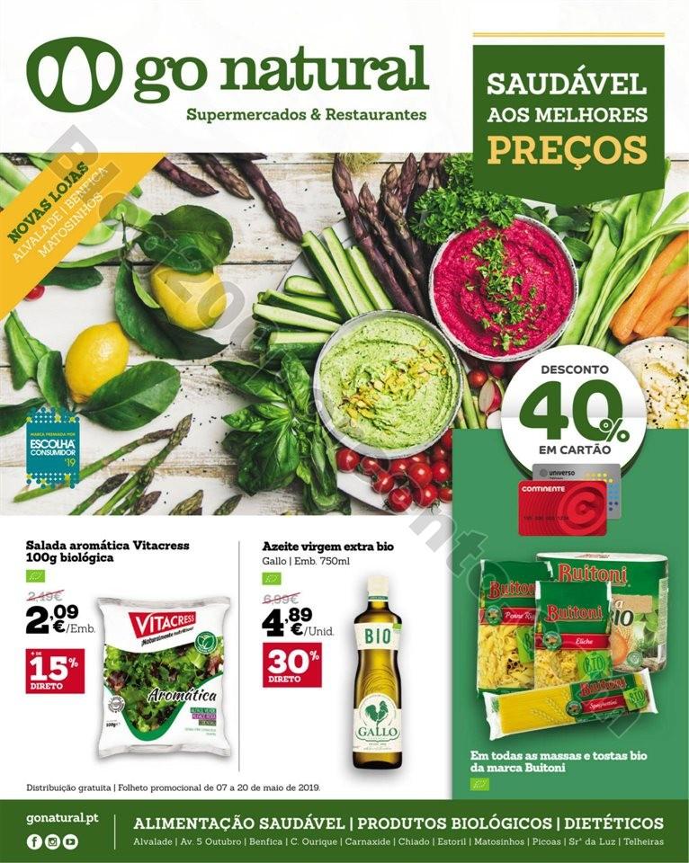 Antevisão Folheto GO NATURAL Promoções de 7 a 2