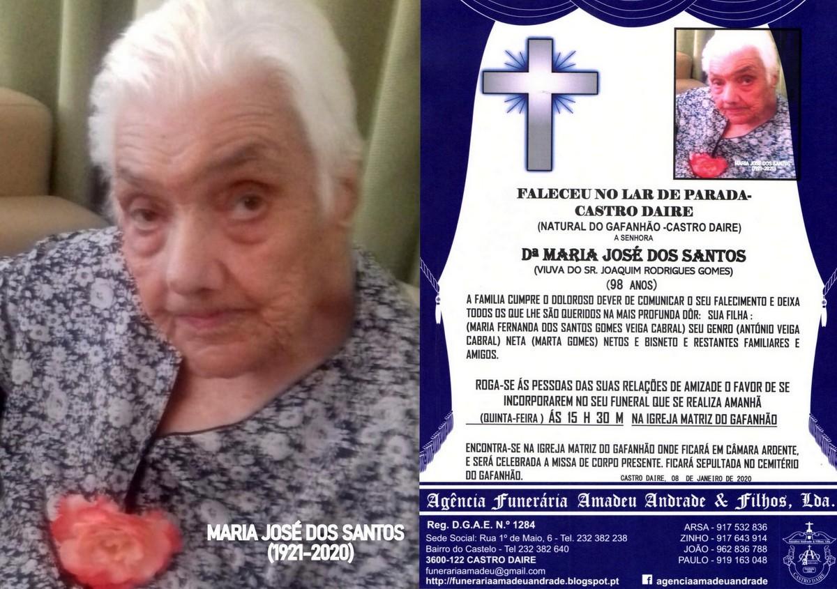 RIP FOTO -MARIA JOSÉ DOS SANTOS -98 ANOS (GAFANH