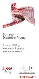 Promoção   JUMBO   Borrego a 3,99€, dias 18 e 19 dezembro