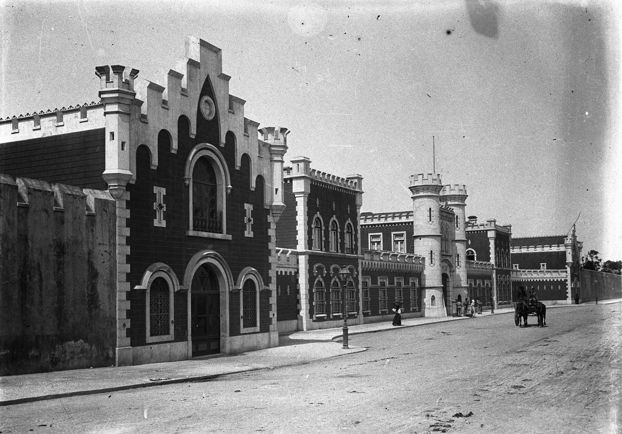 Penitenciária de Lisboa, 1913, foto de Joshua Ben