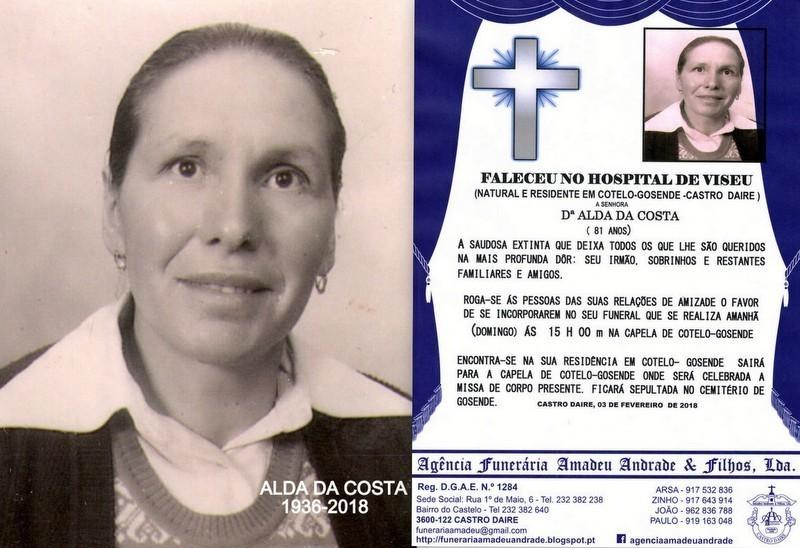 FOTO RIP- DE ALDA DA COSTA -81 ANOS (COTELO-GOSEND