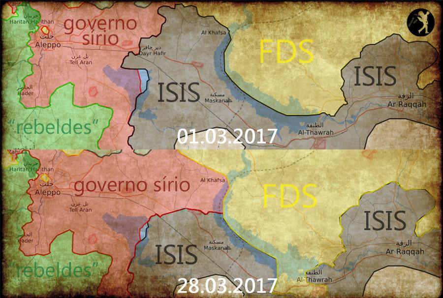 avanço Síria contra ISIS, Março 2017