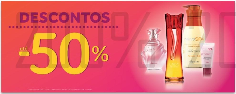 50% de desconto | BOTICÁRIO | de 21 março a 3 abril
