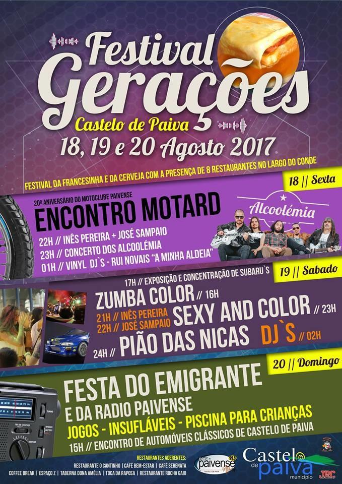 18 Agosto - 2017 Alcoolémia –Festival Geraçõe