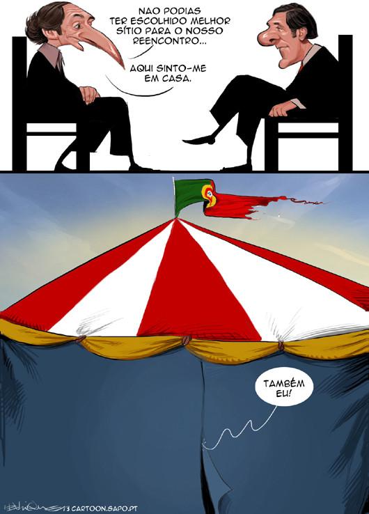 Cartoons - O reencontro entre Paulo Portas e Pedro Passos Coelho