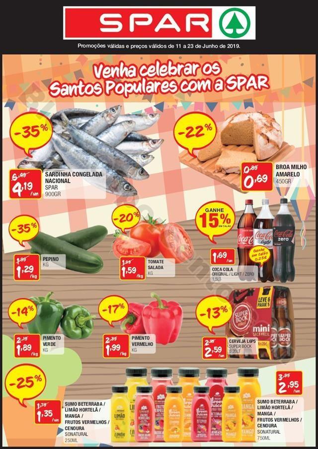 Antevisão Folheto SPAR Promoções de 11 a 13  ju