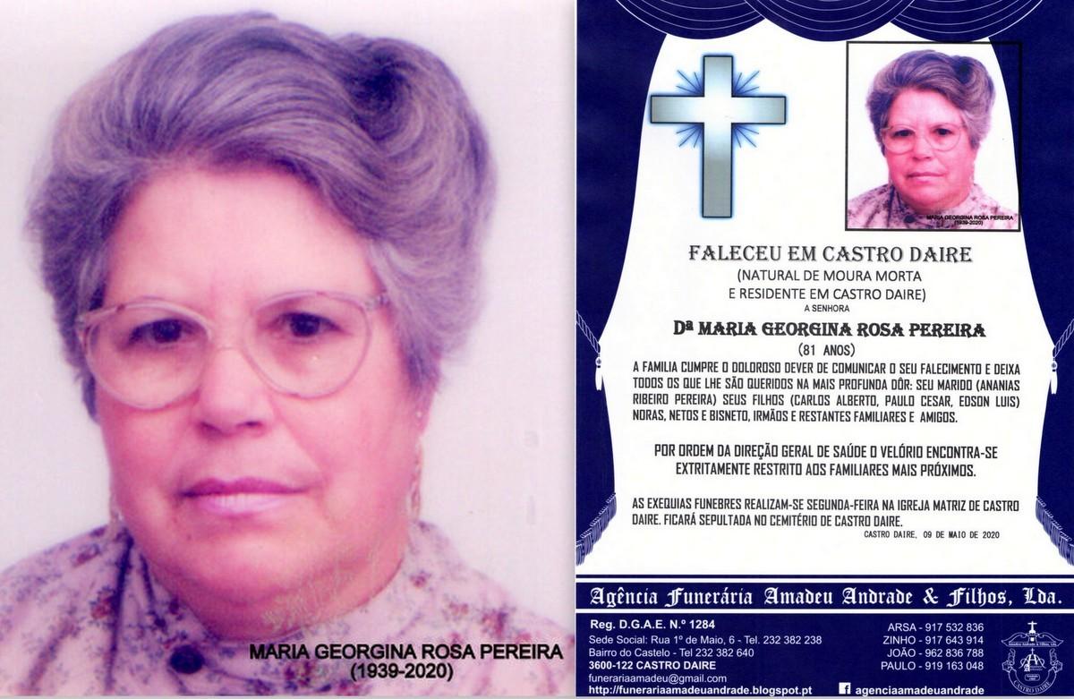 FOTO RIP-  DE MARIA GEORGINA ROSA PEREIRA-81 ANOS