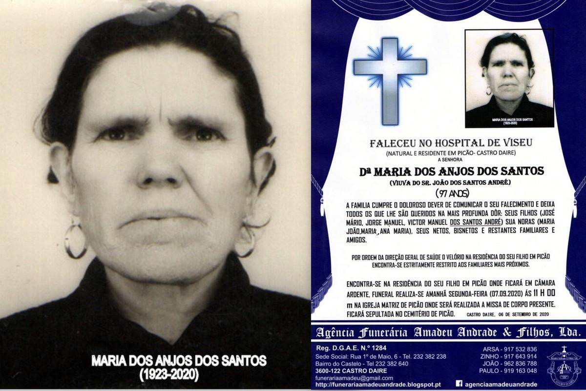 FOTO RIP  DE MARIA DOS ANJOS DOS SANTOS-97 ANOS (P