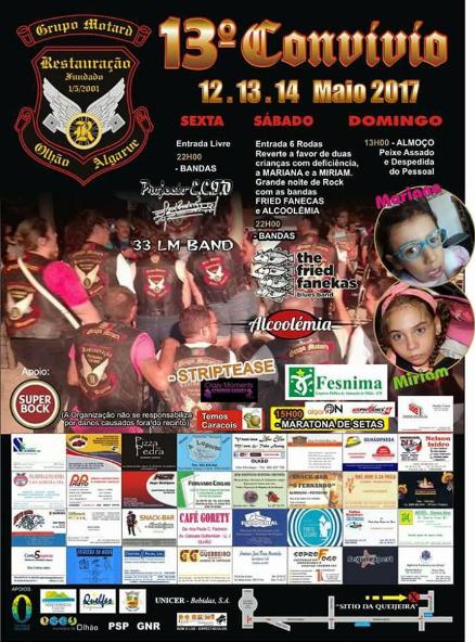 13 Maio - 2017 Alcoolémia - Grupo Motard Restaura