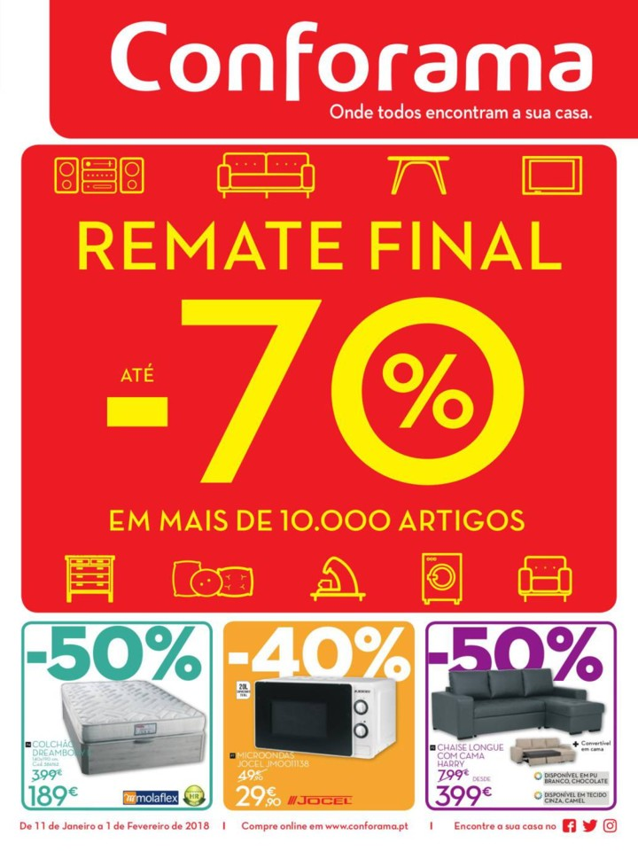 antevis o saldos conforama 11jan 1fev novas promo es. Black Bedroom Furniture Sets. Home Design Ideas