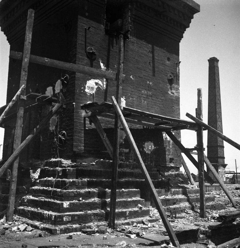 Fábrica de Gás de Belém, demolição, foto de J