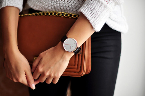 clock tan bag black jeans.jpg