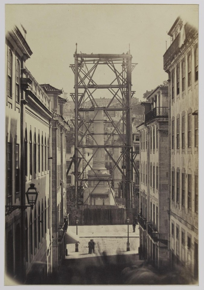 Construção da estátua de D. Pedro IV, 1869,  fo
