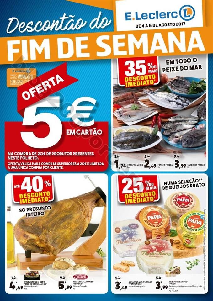ANtevisão Folheto E-LECLERC Fim de semana de 4 a