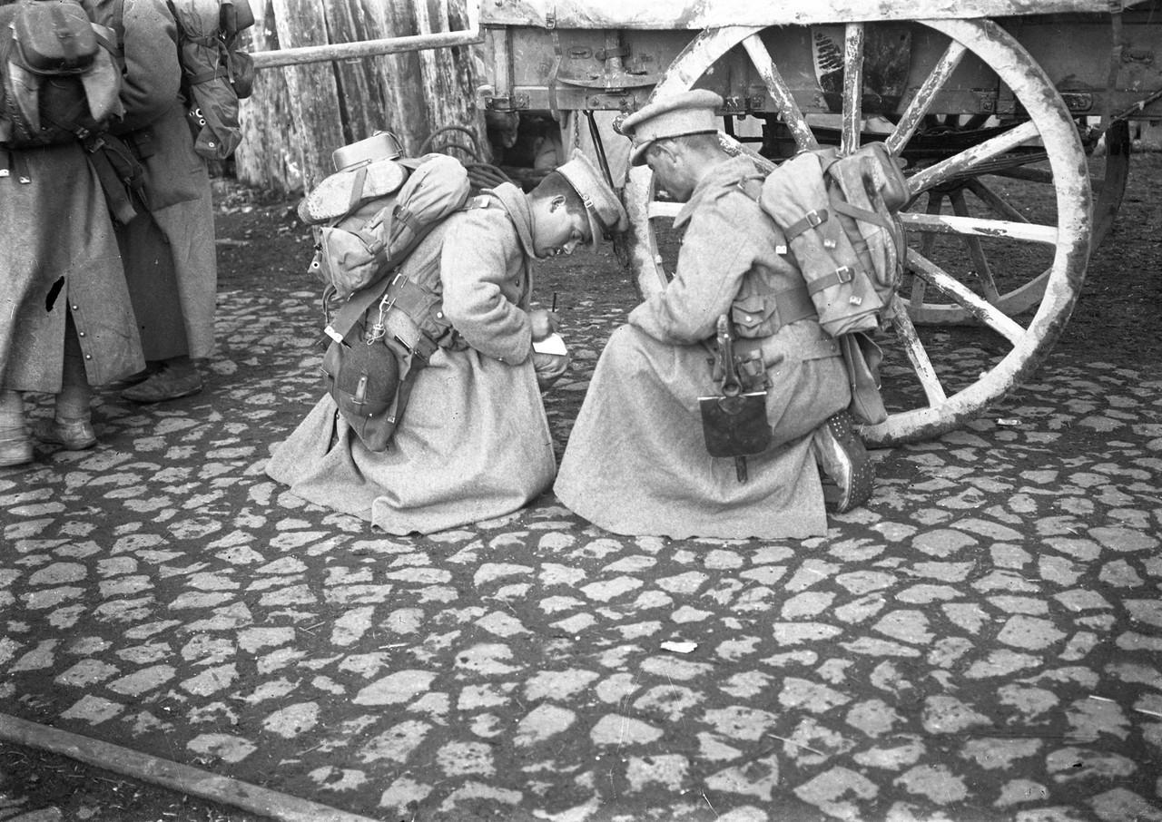 Soldados do Corpo Expedicionário Português antes