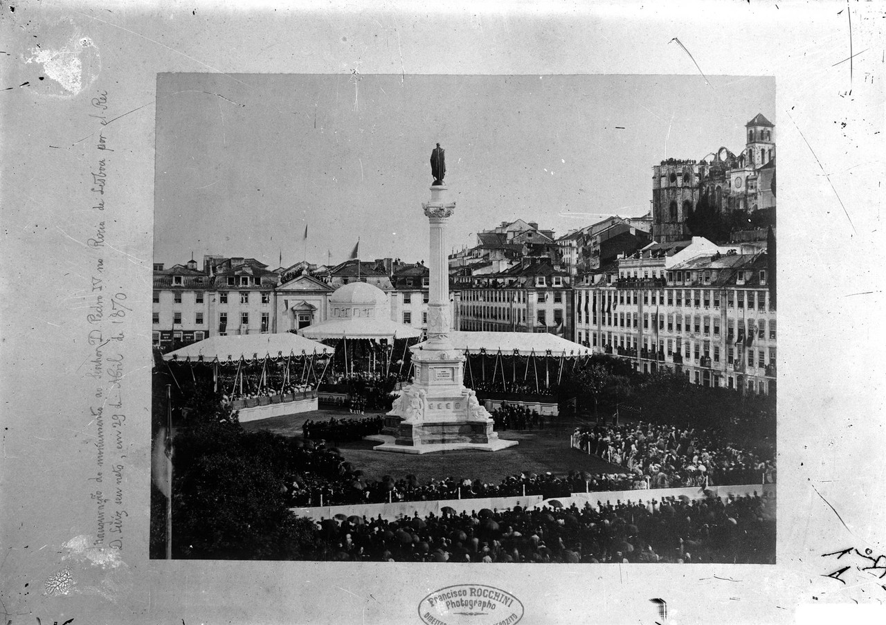 Inauguração da Estátua de Dom Pedro IV, fotogra