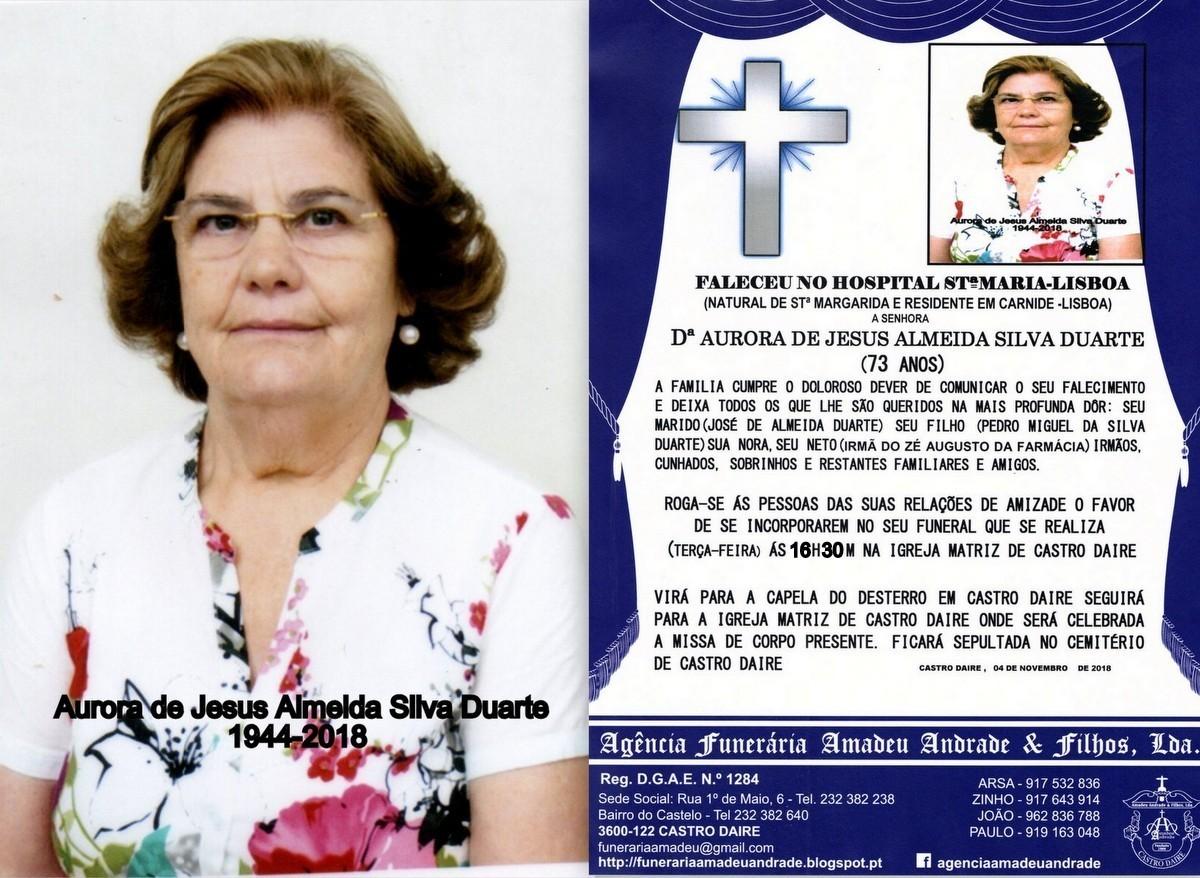 FOTO HORA DE AURORA DE JESUS ALMEIDA SILVA DUARTE