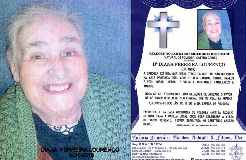 FOTO RIP-DE DIANA FERREIRA LOURENÇO-86 ANOS (FOLG
