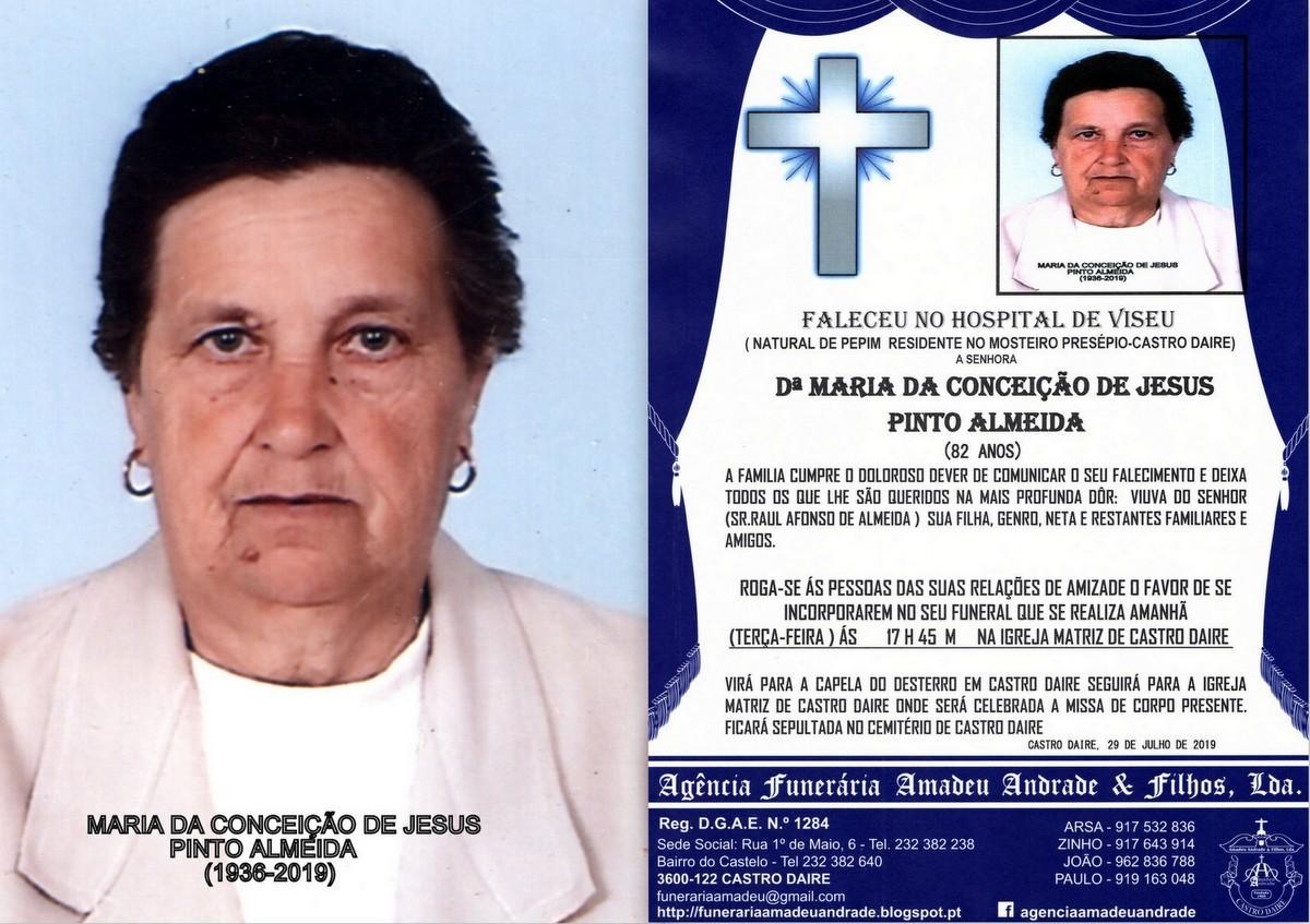 FOTO RIP DE MARIA DA CONCEIÇÃO DE JESUS PINTO AL