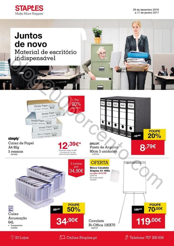 Antevisão Folheto STAPLES Promoções de 29 dezem