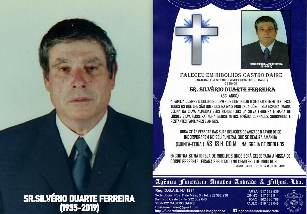FOTO RIP SILVÉRIO DUARTE FERREIRA-83 ANOS (RIBOLH