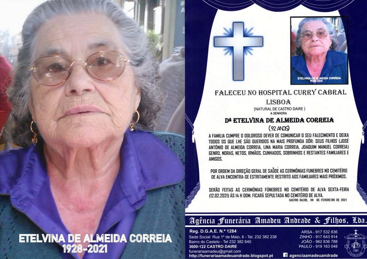FOTO RIP DE ETELVINA DE ALMEIDA CORREIA -92 ANOS (