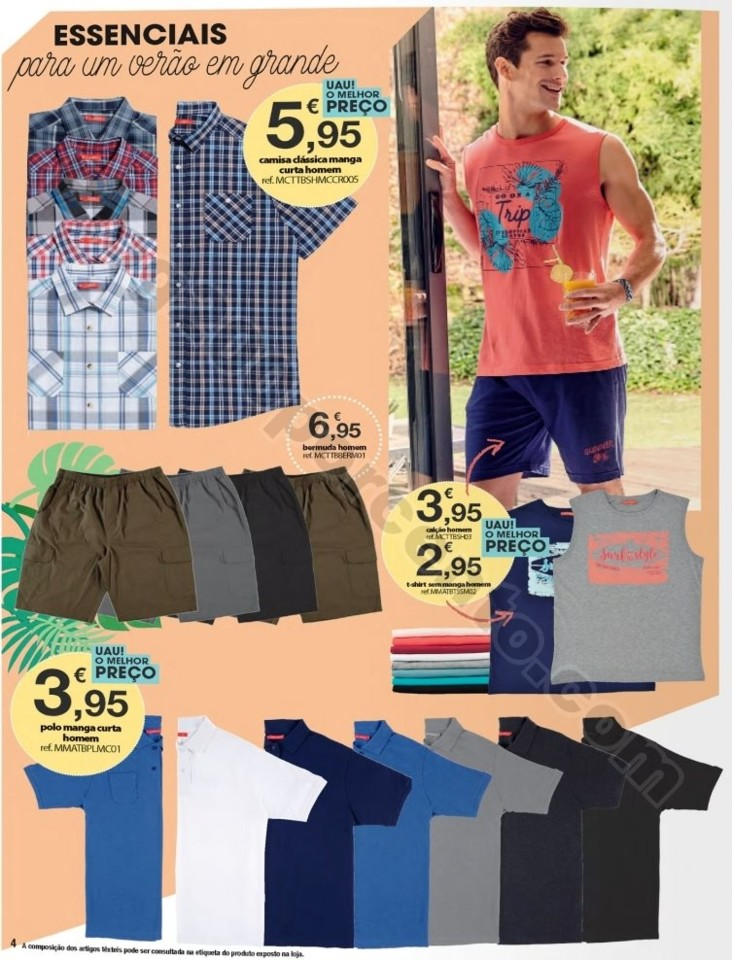 Antevisão Folheto E-LECLERC Moda Verão promoçõ