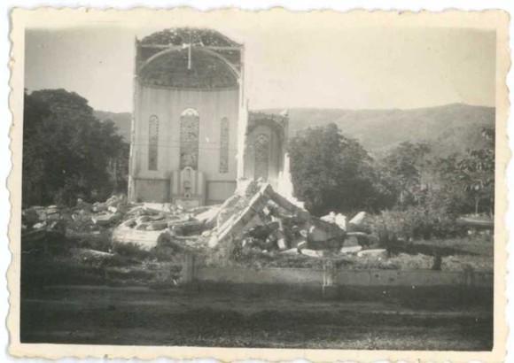 Catedral de Díli bombardeada pelos japoneses