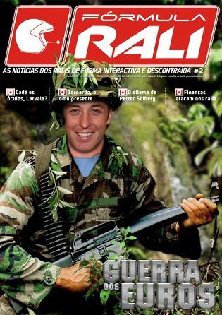 Armindo Araújo em pose de guerreiro, na capa de mais um magazine FR...