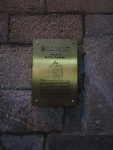 Placa Informativa da Capela de Santa Catarina, Chaves