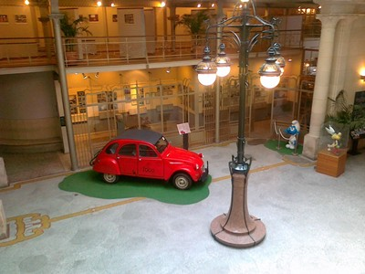 Citroën 2CV no Museu de Banda Desenhada
