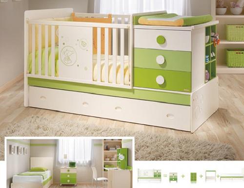 Como decorar um quarto para g meos mobiliario infantil - Protector para pared cama ...