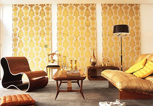 decoração tons dourado