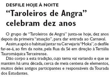 Caixa no Diário Insular desta manhã...