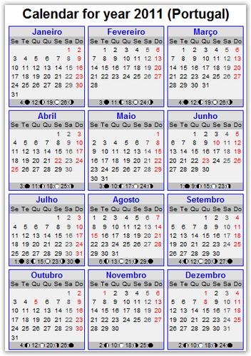 Calendáriod de 2011