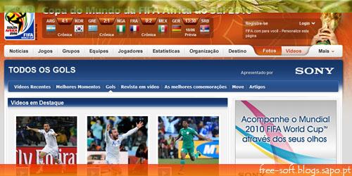 Videos Mundial de Futebol África do Sul 2010