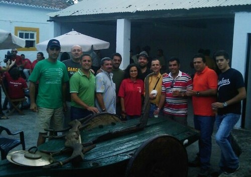 O habitual grupo de amigos, com a mordoma de São Carlos'2010 e o nosso artista Luís Filipe Borges...