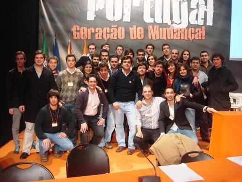 Distrital da Guarda da JSD no XXI Congresso da JSD e Duarte Marques