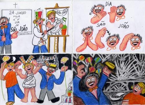Desenho das festas populares do São João