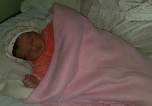A pequenita Sofia, às primeiras horas de vida...