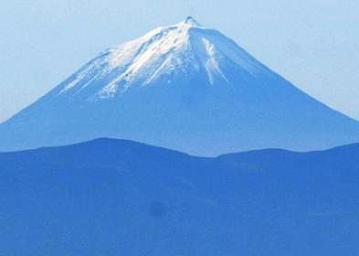 O pico do Pico com neve...esta manhã, da serra de Santa Bárbara.