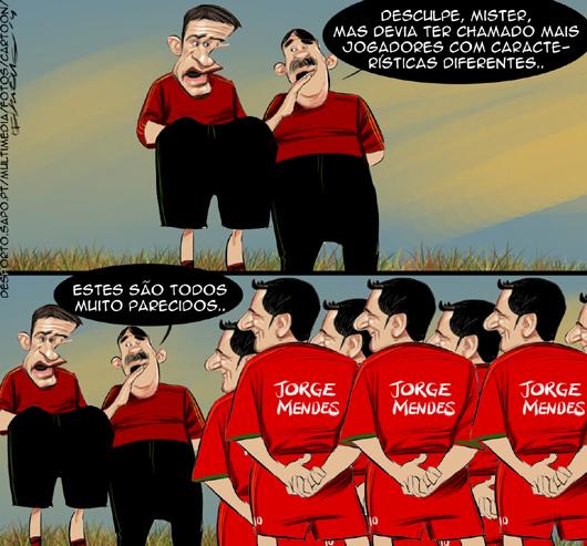 Cartoons - Os convocados de Paulo Bento para o Mundial do Brasil