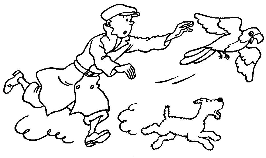 Desenhos do tintin para pintar brinquedos de papel - Tintin gratuit ...
