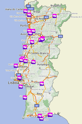 mapa portugal sapo Festeje o Carnaval o SAPO Mapas   SAPO Mapas mapa portugal sapo