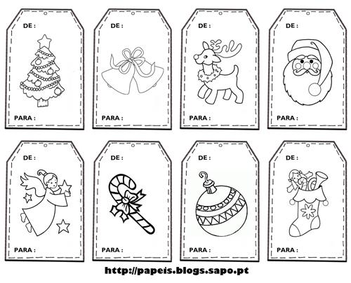 Etiquetas De Natal Para Colorir E Imprimir Brinquedos De Papel