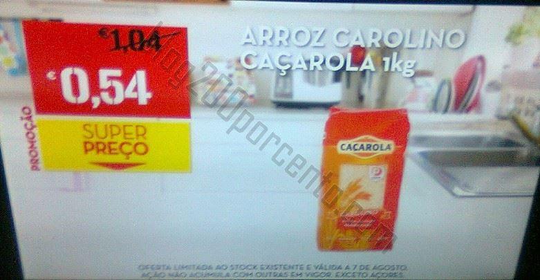 Super Preço CONTINENTE Arroz Caçarola, dia 7 agosto