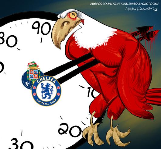Cartoons - As duas derrotas do Benfica - Porto - Chelsea