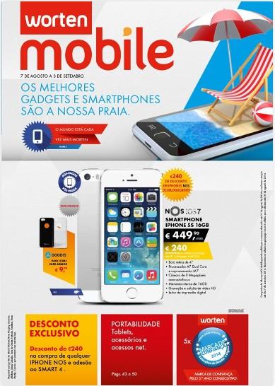Novo Folheto WORTEN MOBILE Promoções de 7 agosto a 3 setembro